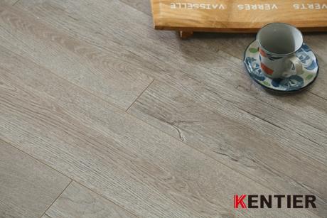 K48410-Oak Wood Texture Laminate Flooring with Grey Color
