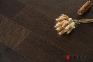M1802-Dark Color Engineered Flooring with Handscraped Treatment