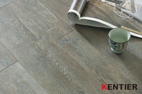 K2101-Hickory Wood Texture Wood Laminate Flooring with Handscraped Surface