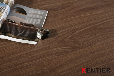 K1207-Dark Color Oak Dry Back Pvc Flooring From Kentier