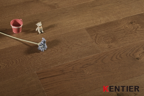 K5106-Oak Veneer Multi-layer Engineered Flooring with Wire Brushed Treatment