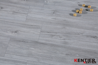 Light Grey Rigid Vinyl SPC Flooring with Kentier Brand