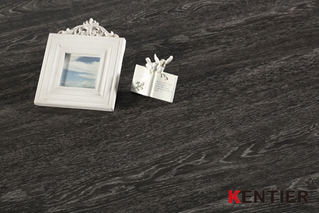 K2122-Dark Black Dry Back Vinyl Tile with Embossed Surface